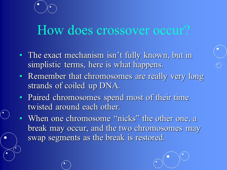 How does crossover occur.