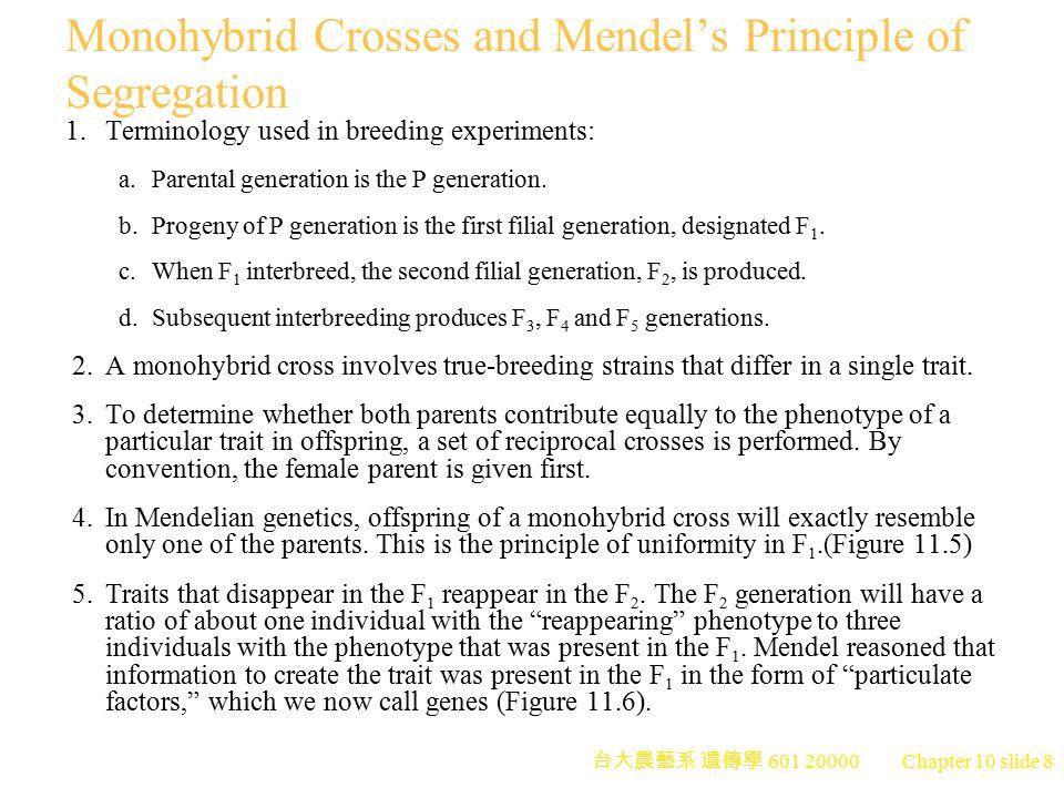 台大農藝系 遺傳學 601 20000 Chapter 10 slide 9 Peter J.