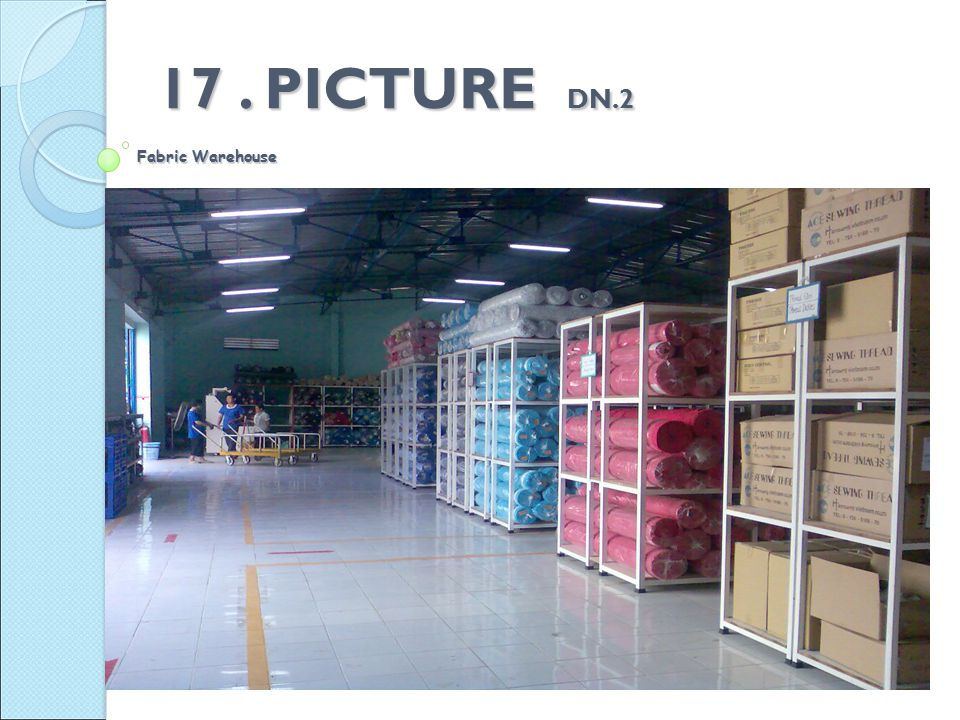 Fabric Warehouse 17. PICTURE DN.2