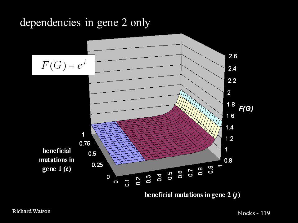blocks - 119 Richard Watson dependencies in gene 2 only