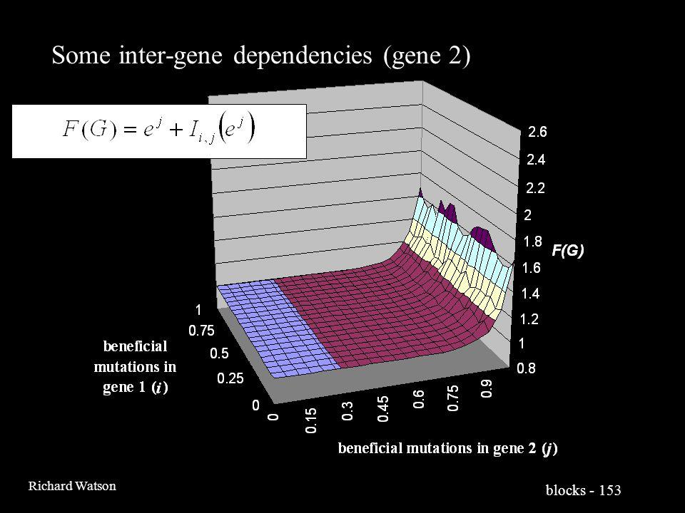 blocks - 153 Richard Watson Some inter-gene dependencies (gene 2)