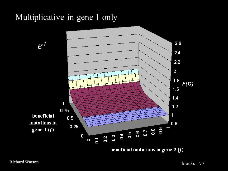blocks - 77 Richard Watson Multiplicative in gene 1 only e ie i