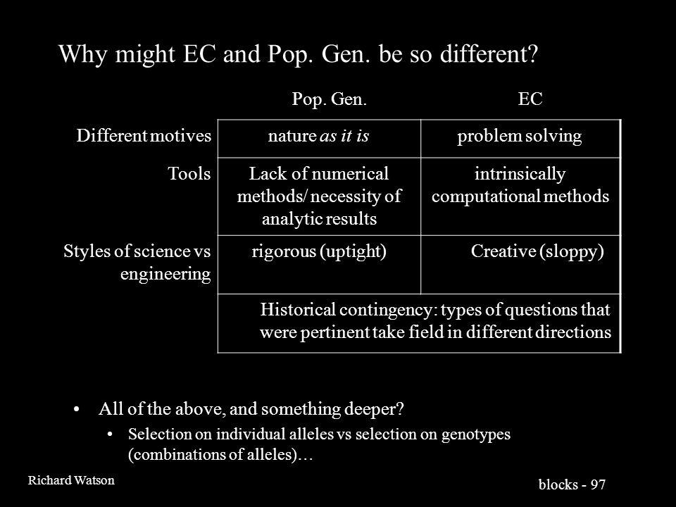 blocks - 97 Richard Watson Why might EC and Pop. Gen.