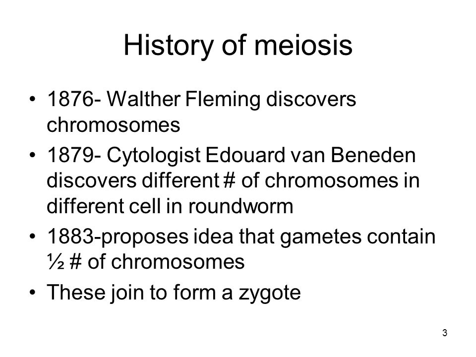 4 Overview of Meiosis Meiosis is a form of cell division that leads to the production of gametes.