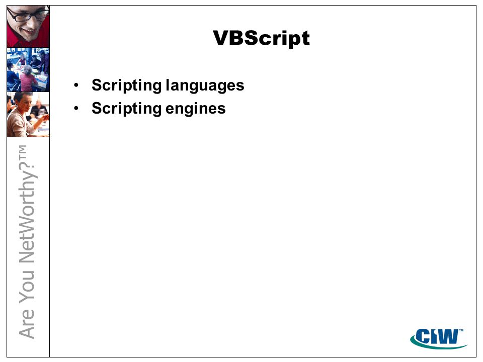 VBScript Scripting languages Scripting engines