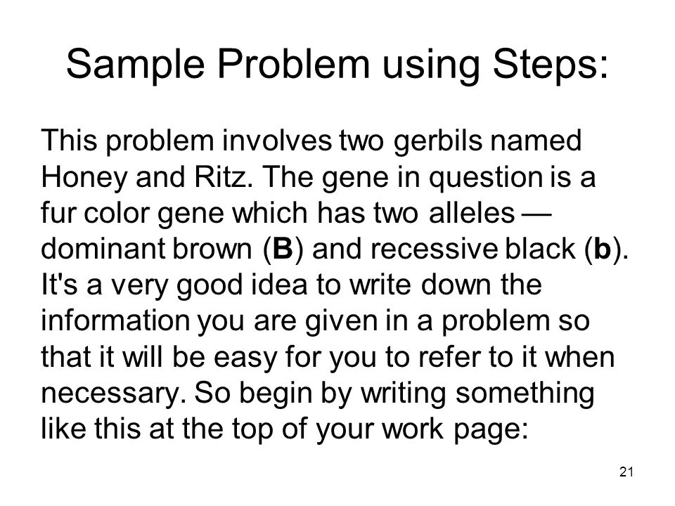 Solving Genetics Problems I: Monohybrid Crosses Classical genetics is a science of logic and statistics. While many find the latter intimidating, the