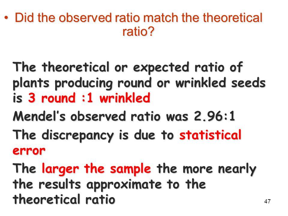 46 Mendel's Experimental Results