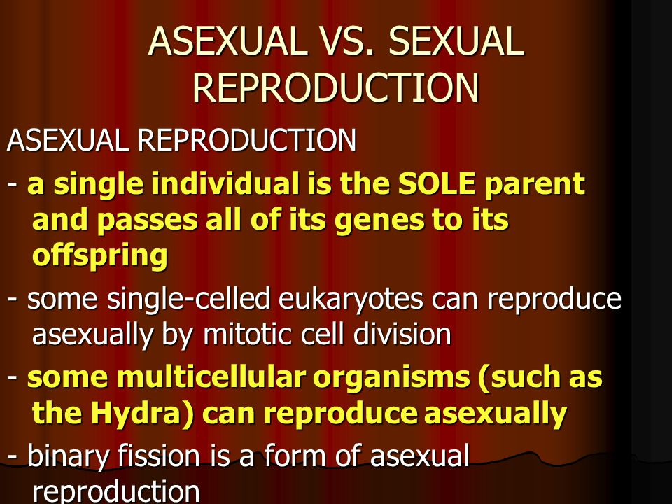 ASEXUAL VS.