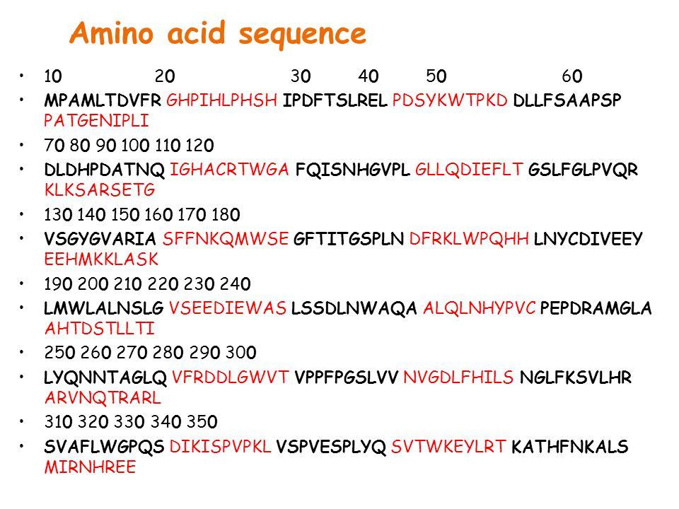 Amino acid sequence 10 20 30 40 50 60 MPAMLTDVFR GHPIHLPHSH IPDFTSLREL PDSYKWTPKD DLLFSAAPSP PATGENIPLI 70 80 90 100 110 120 DLDHPDATNQ IGHACRTWGA FQISNHGVPL GLLQDIEFLT GSLFGLPVQR KLKSARSETG 130 140 150 160 170 180 VSGYGVARIA SFFNKQMWSE GFTITGSPLN DFRKLWPQHH LNYCDIVEEY EEHMKKLASK 190 200 210 220 230 240 LMWLALNSLG VSEEDIEWAS LSSDLNWAQA ALQLNHYPVC PEPDRAMGLA AHTDSTLLTI 250 260 270 280 290 300 LYQNNTAGLQ VFRDDLGWVT VPPFPGSLVV NVGDLFHILS NGLFKSVLHR ARVNQTRARL 310 320 330 340 350 SVAFLWGPQS DIKISPVPKL VSPVESPLYQ SVTWKEYLRT KATHFNKALS MIRNHREE