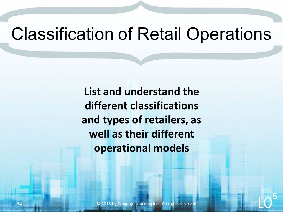 List and understand the different classifications and types of retailers, as well as their different operational models Classification of Retail Opera