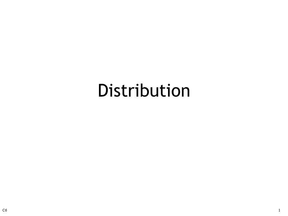 C61 Distribution