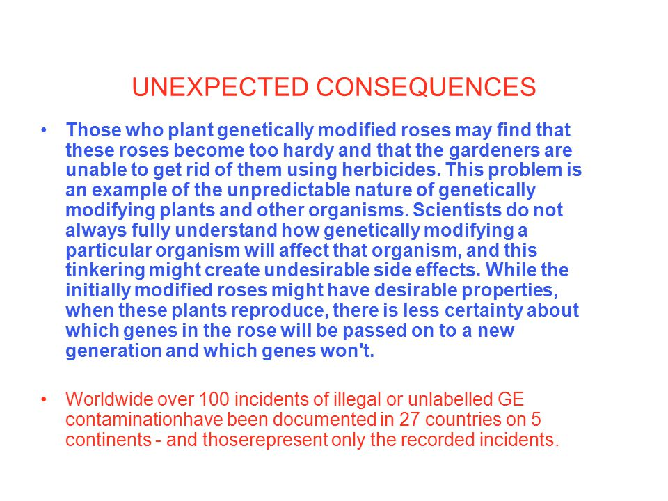 INTERNATIONAL CONCERNS http://www.gmcontaminationregister.org/
