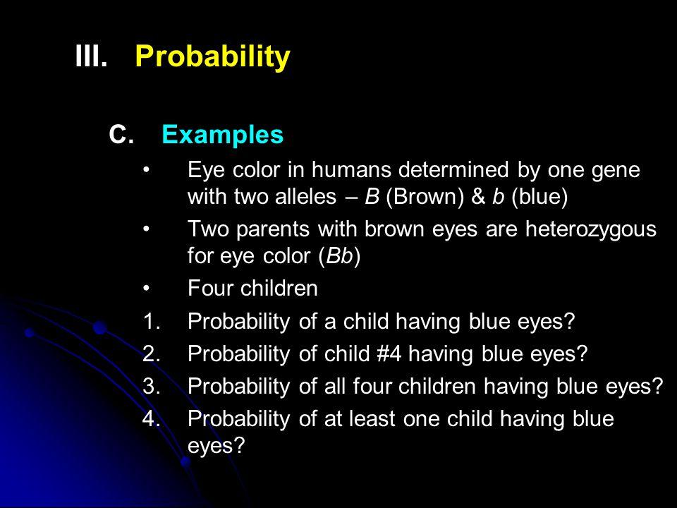 III. III.Probability C.