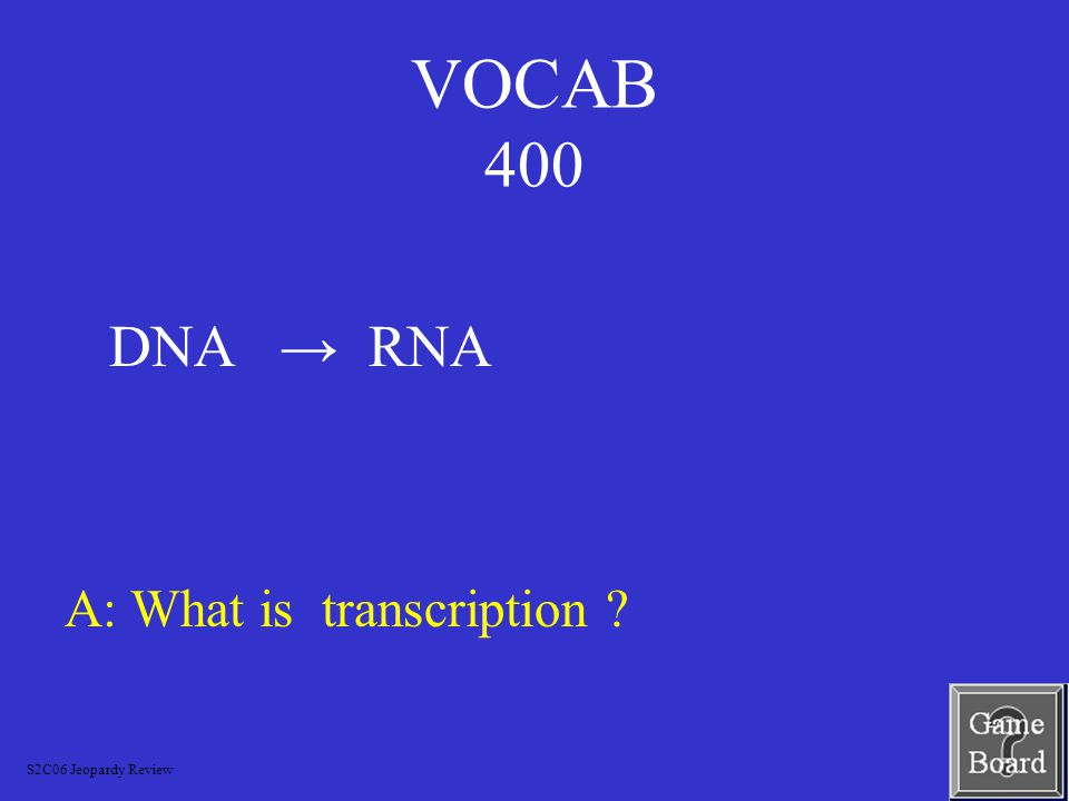 VOCAB 300 A: What is a CARRIER .