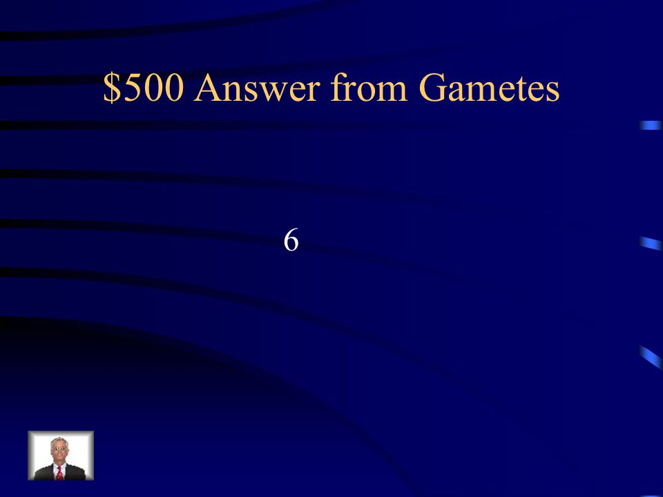 $500 Question from Gametes If an organism's diploid number is 12, its haploid number is