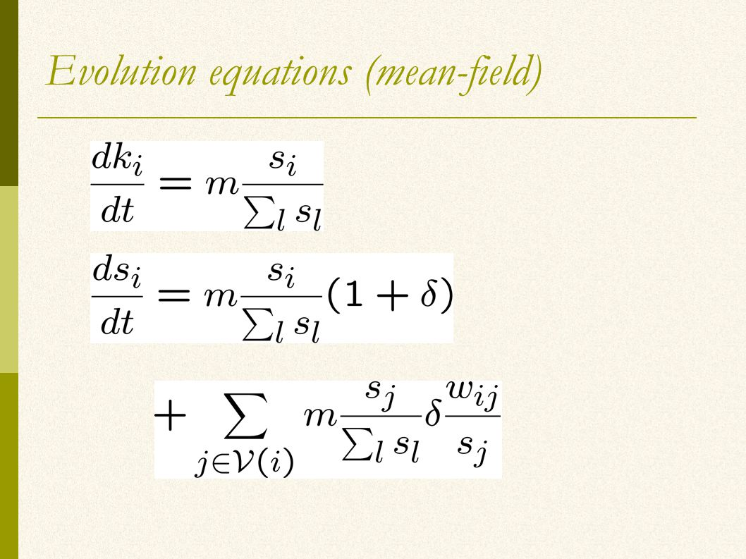 Evolution equations (mean-field)