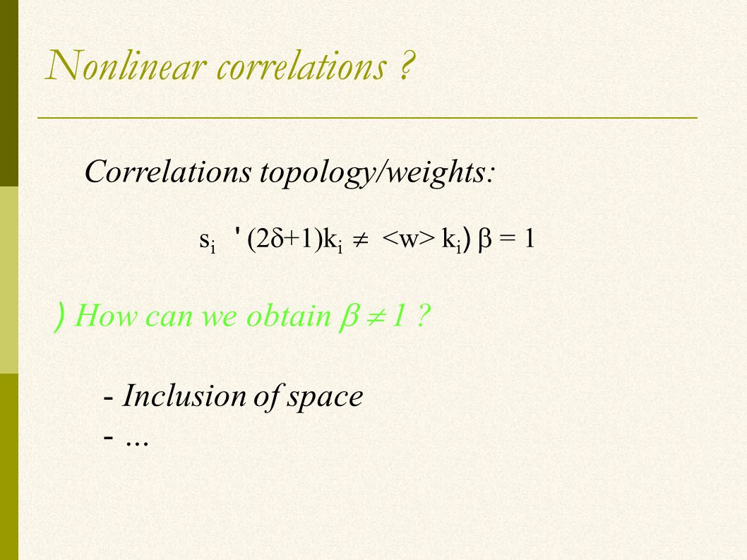 Nonlinear correlations .