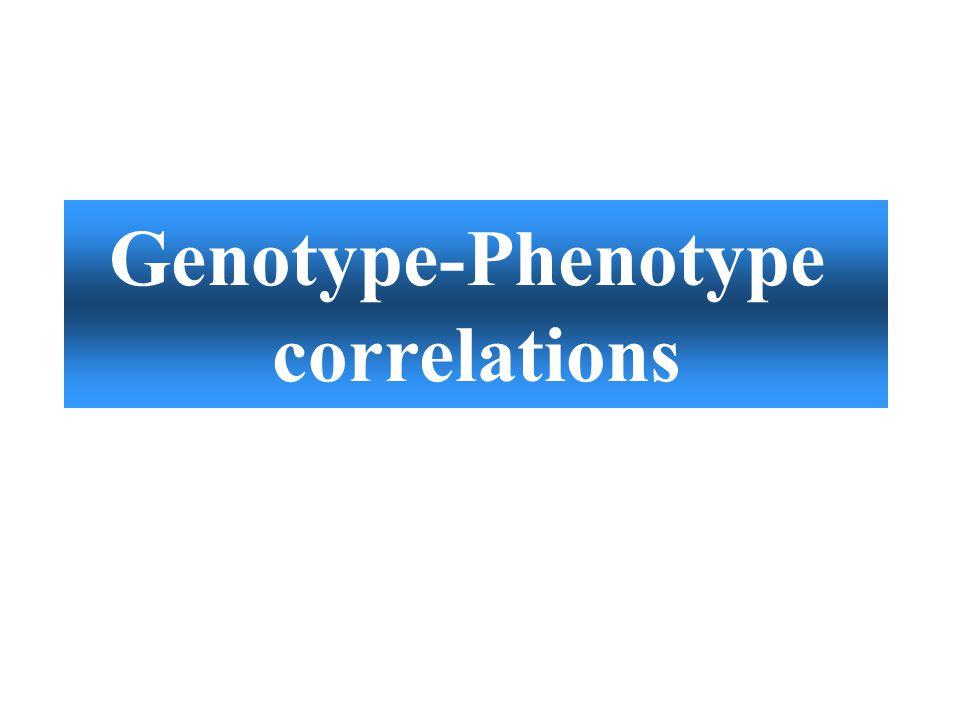 Genotype-Phenotype correlations