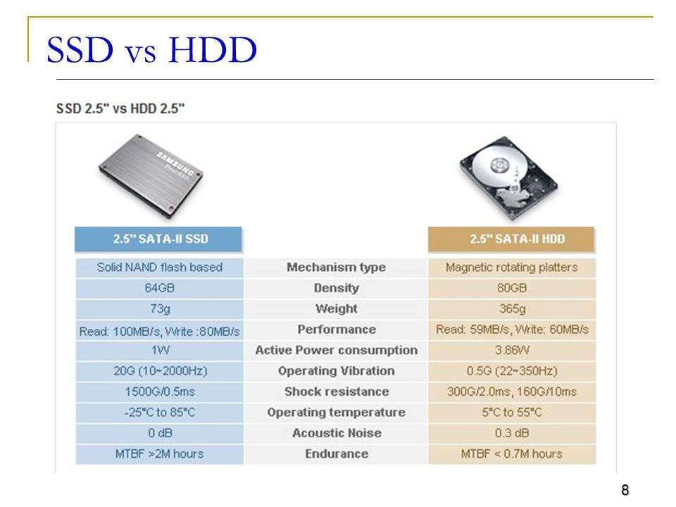 8 SSD vs HDD