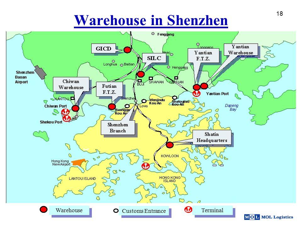 18 Warehouse Customs Entrance Terminal Warehouse in Shenzhen 18