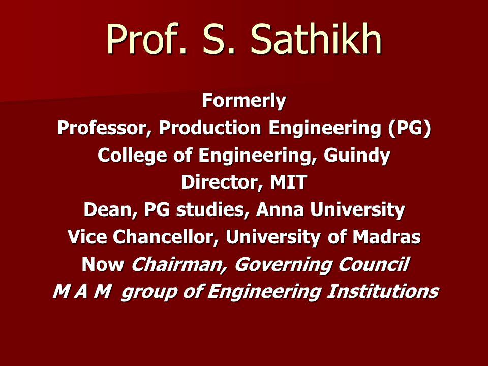 Prof. S.