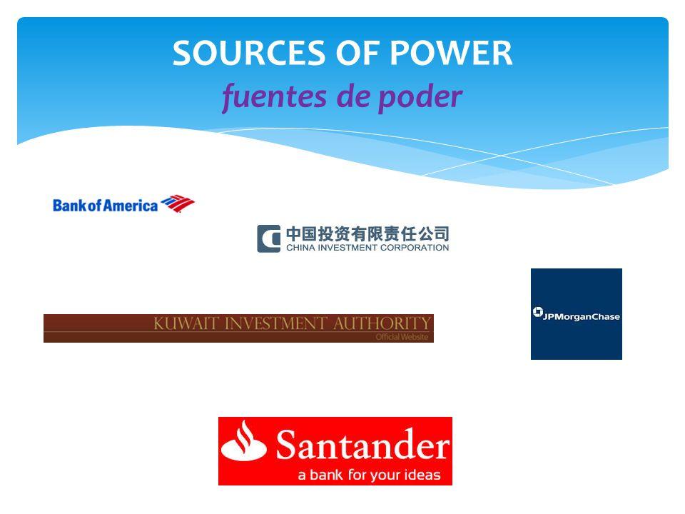 SOURCES OF POWER fuentes de poder