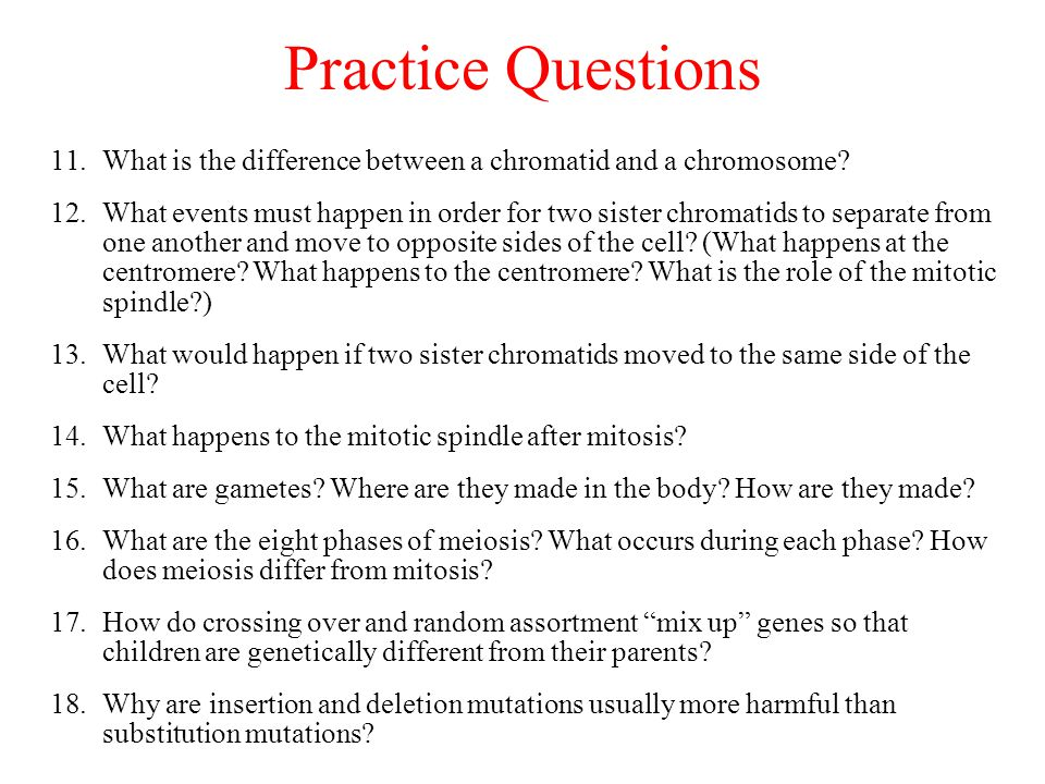 11.What is the difference between a chromatid and a chromosome.