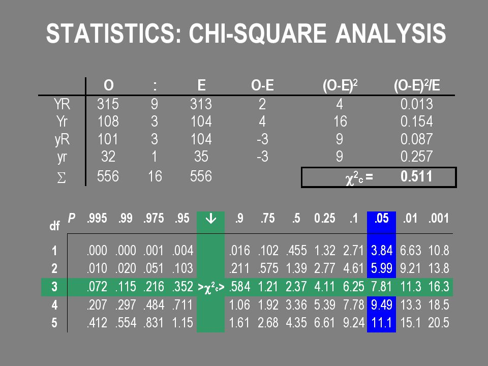 STATISTICS: CHI-SQUARE ANALYSIS
