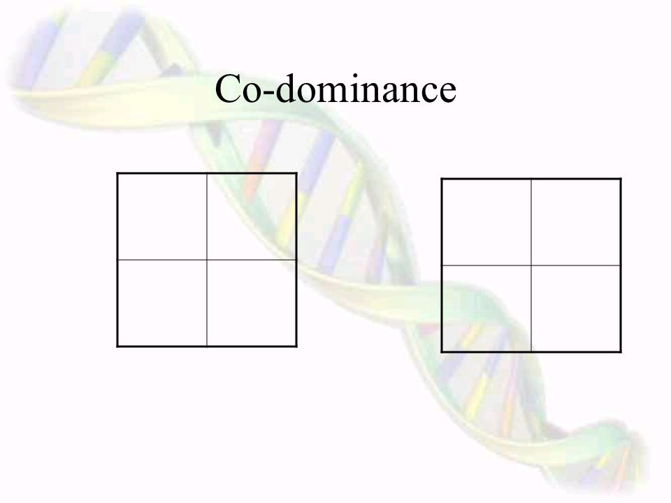 Co-dominance ~ Traits that have more than one dominant allele. Some traits have more than one possible dominant or recessive gene. For instance, blood