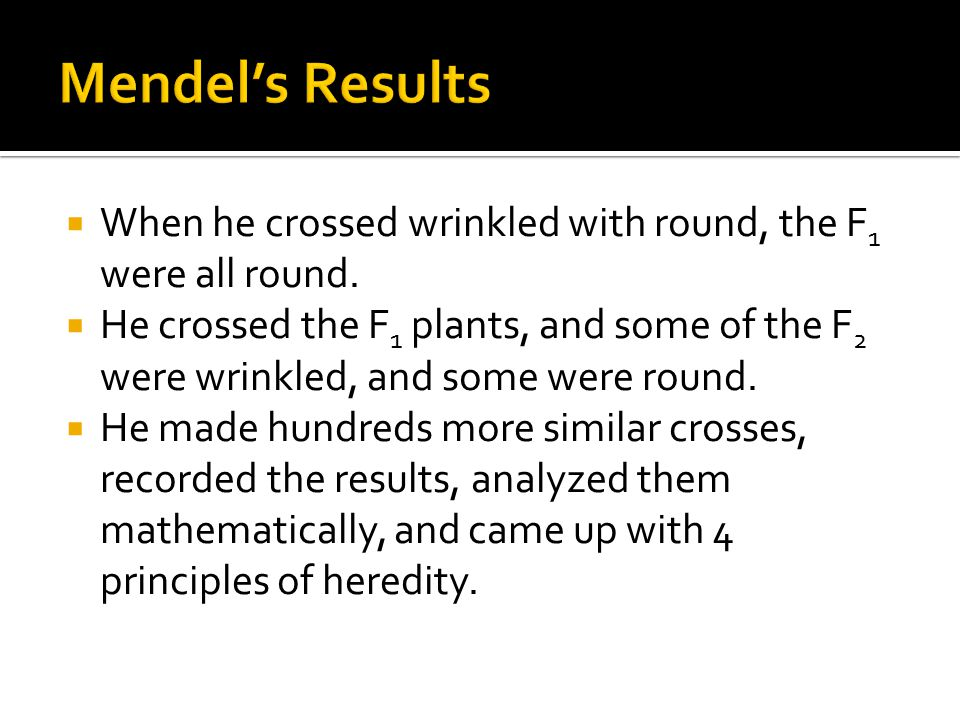  Mendel presented his work in a paper in 1865, Experiments in Plant Hybridization  However, it was not well received and given little attention  His work was significant not just because of his discoveries in genetics, but also because he used mathematical and statistical analysis to analyze his results.