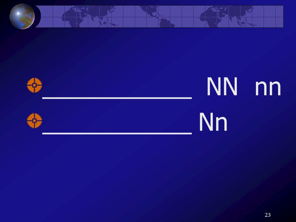 23 ___________ NN nn ___________ Nn