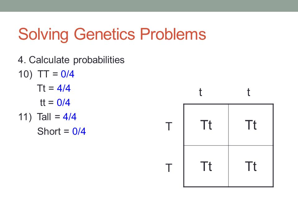 Solving Genetics Problems 4.