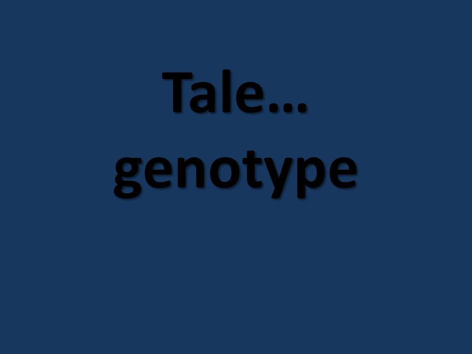 Tale… genotype