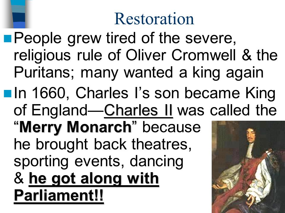 The Restoration (1660)
