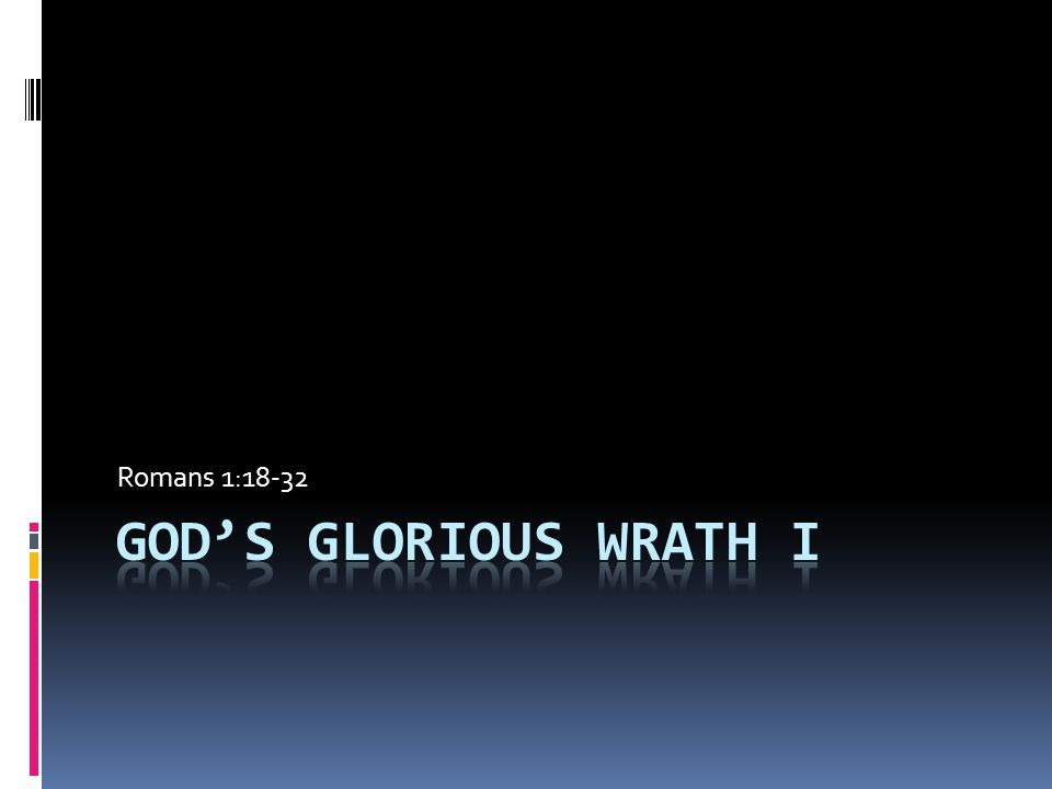 The Display of God's Wrath  How Should We Approach.