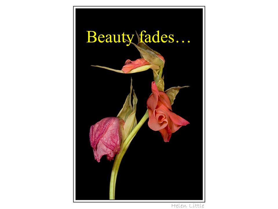 Beauty fades…