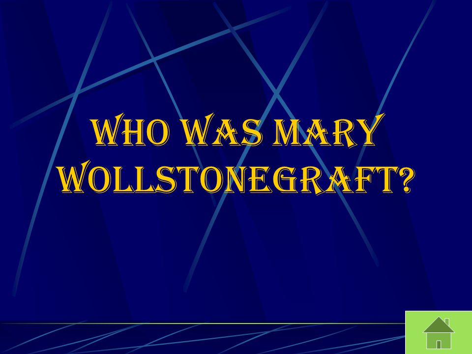 Who was mary wollstonegraft