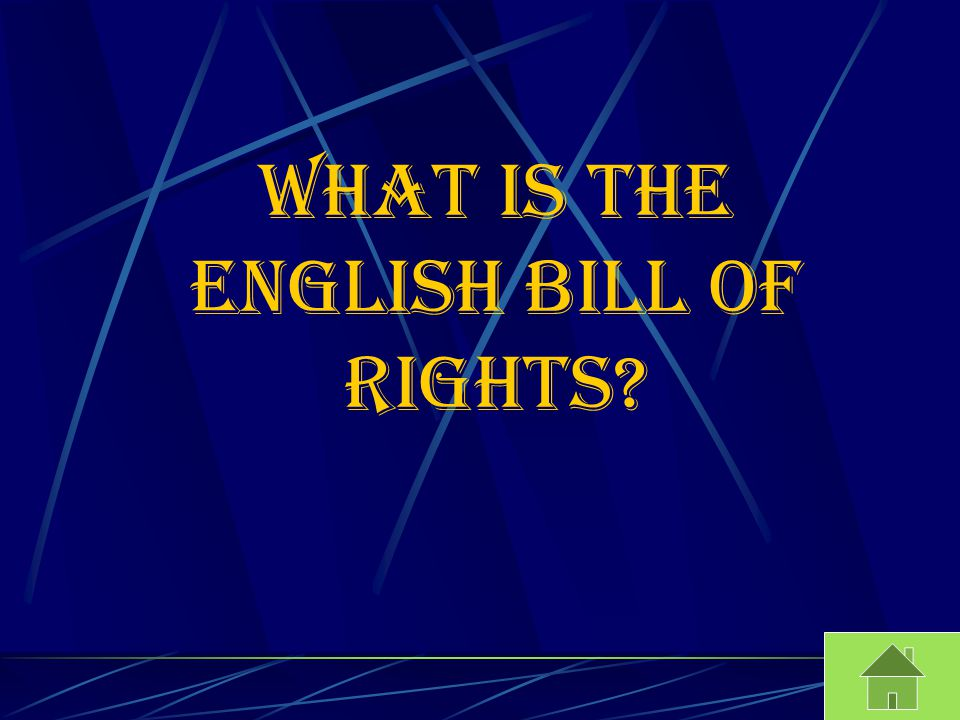 What is the English bill of rights?