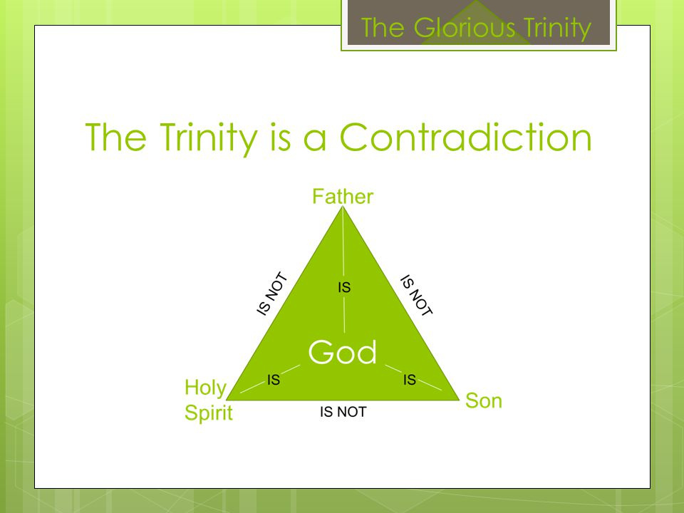 The Trinity is a Contradiction The Glorious Trinity