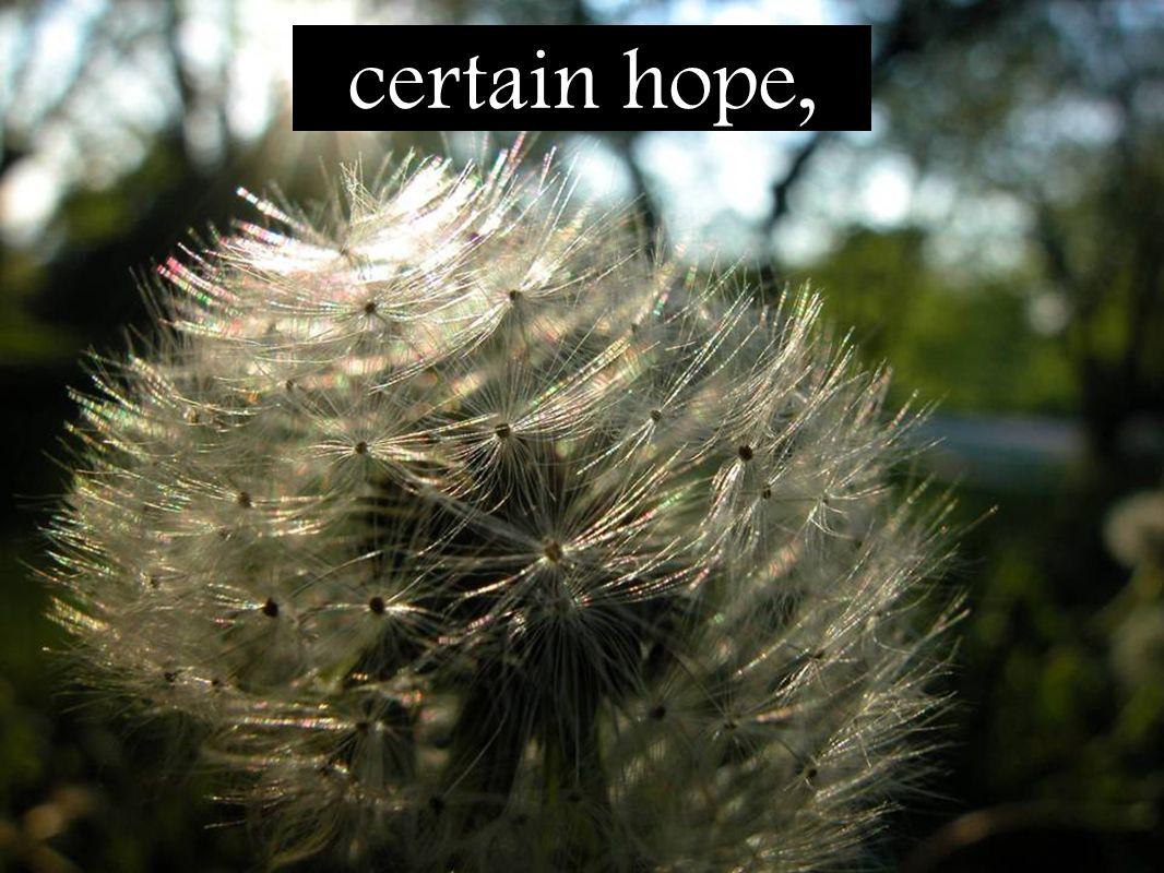 certain hope,