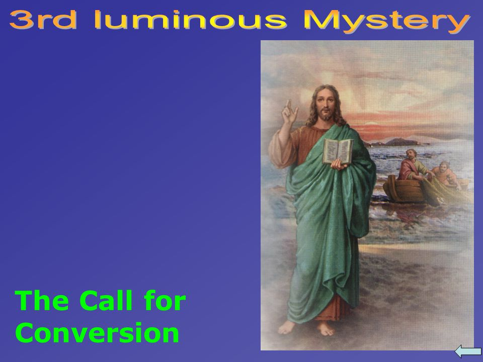 The Call for Conversion