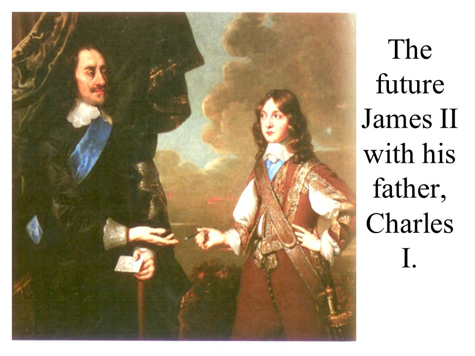 The future James II with his father, Charles I.