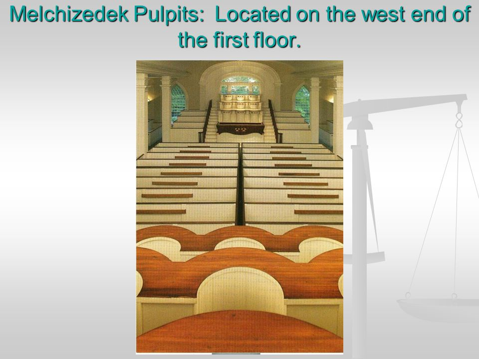 Melchizedek Pulpits and Veil