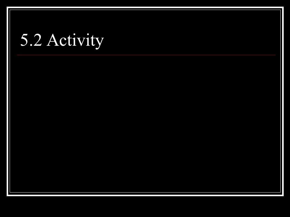 5.2 Activity