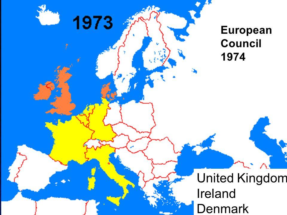 European Council 1974 United Kingdom Ireland Denmark