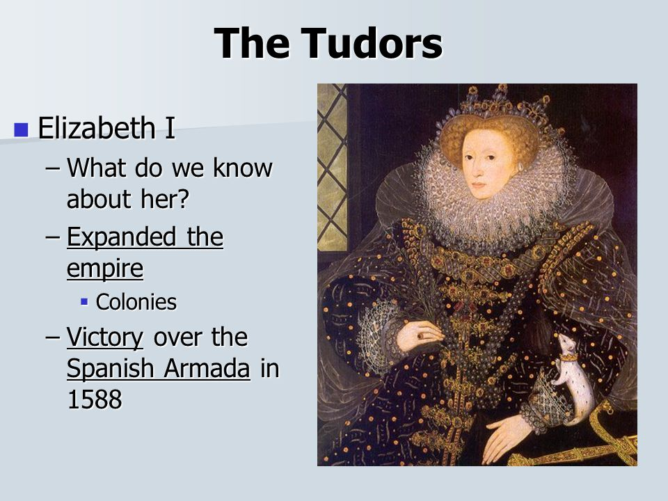 The Tudors Elizabeth I Elizabeth I –What do we know about her.