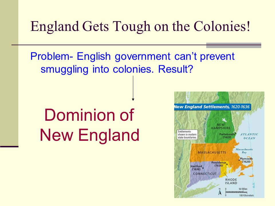 England Gets Tough on the Colonies.