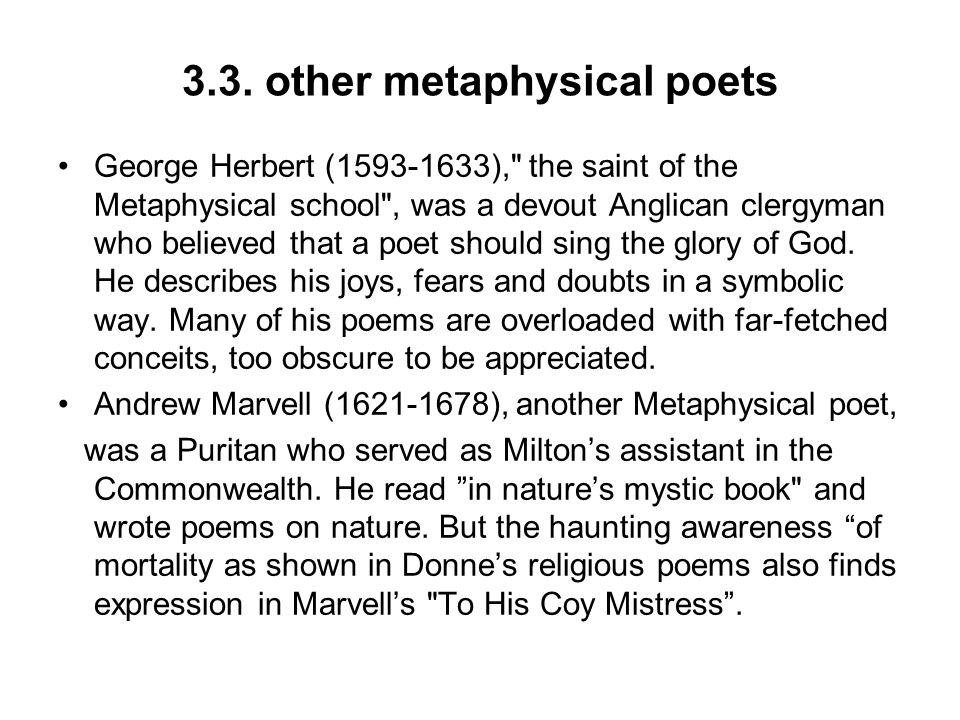 3.3. other metaphysical poets George Herbert (1593-1633),