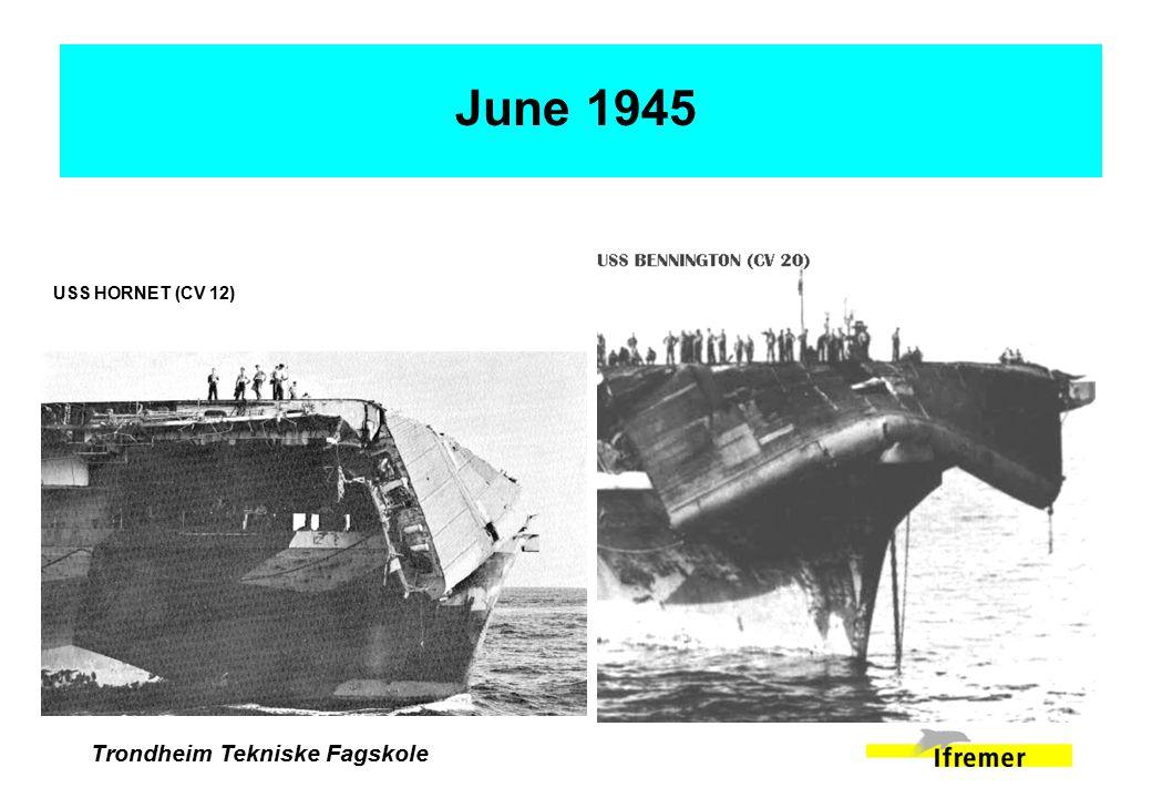 Trondheim Tekniske Fagskole June 1945 USS HORNET (CV 12)
