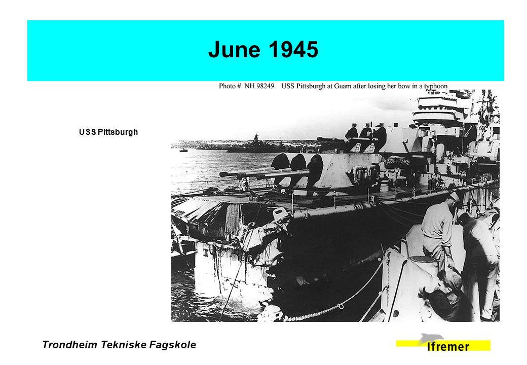 Trondheim Tekniske Fagskole June 1945 USS Pittsburgh